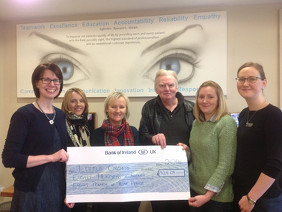 Eglinton Eye Care Present Cheque to Little Orchids